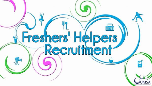 Freshers' Helpers Recruitment for Sept 2013 NOW OPEN